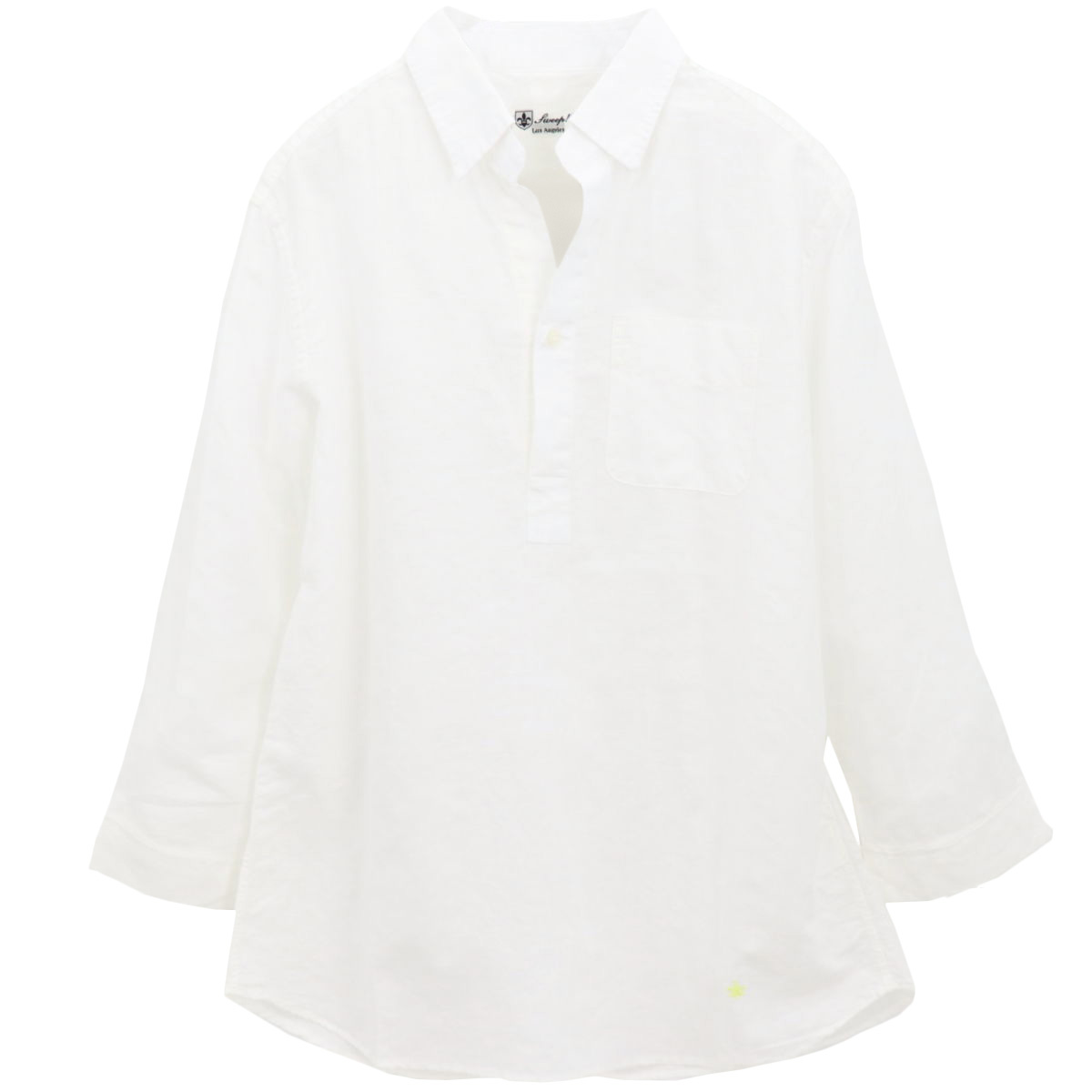 【50%OFF】リネンコットン カプリシャツ WHITE(ホワイト)