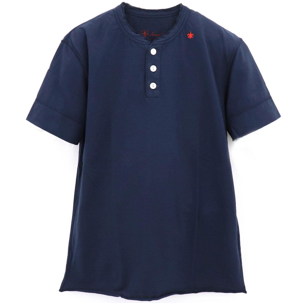 ヘンリーネックTシャツ(NAVY)
