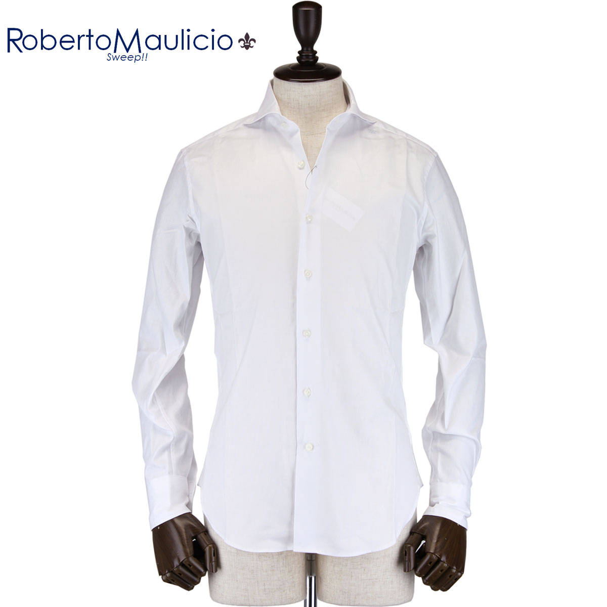 ★BASIC Roberto Maulicio Sweep!! / ROYAL-OXFORD(WHITE)刺繍グレー