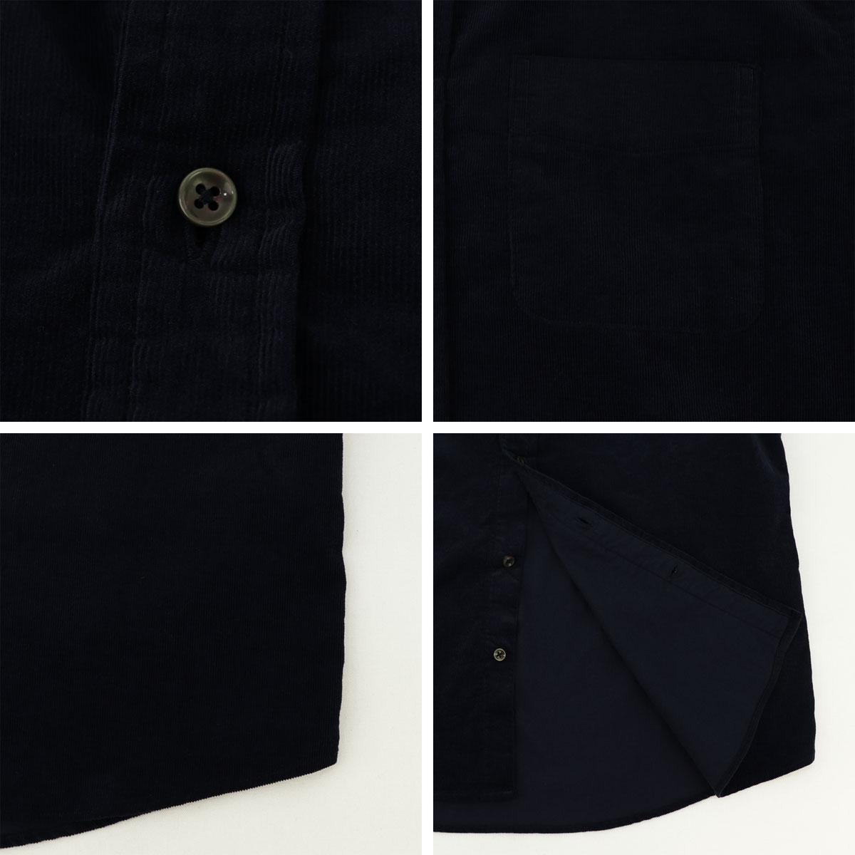 コーデュロイ ボタンダウンシャツ(NAVY)