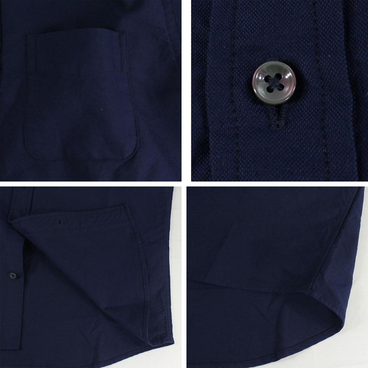 ★定番 オックスフォード ボタンダウンシャツ 刺繍同色(NAVY)