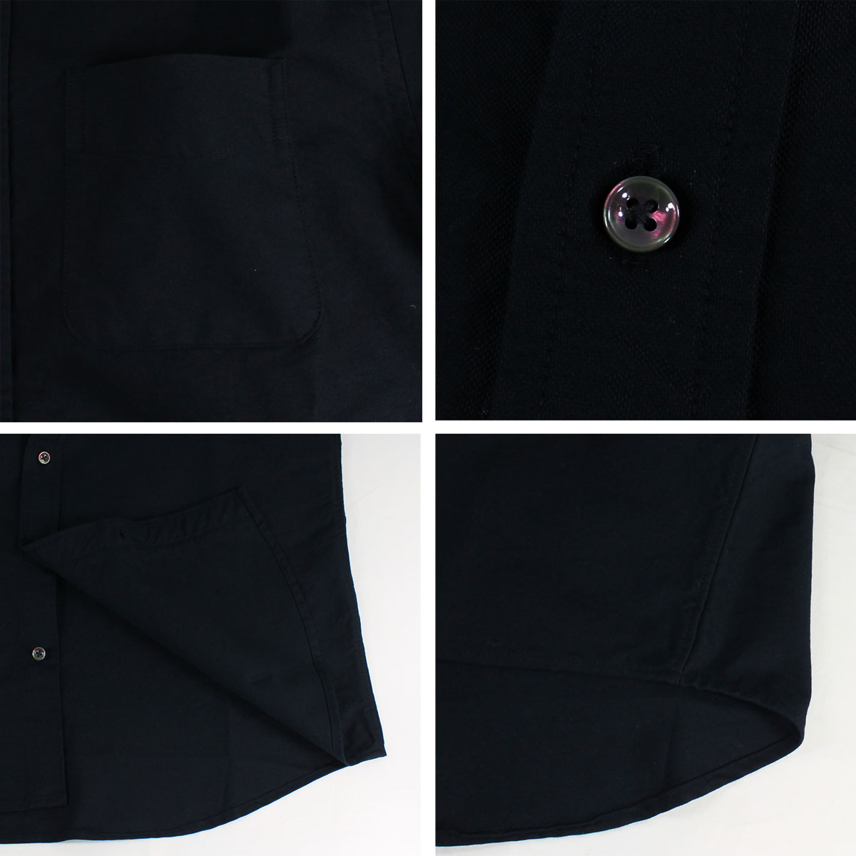 ★BASIC 13BUTTON  SOLID OXFORD(BLACK)