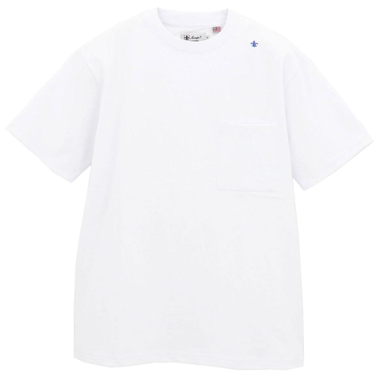USAコットン クルーネック 半袖 Tシャツ WHITE(ホワイト)