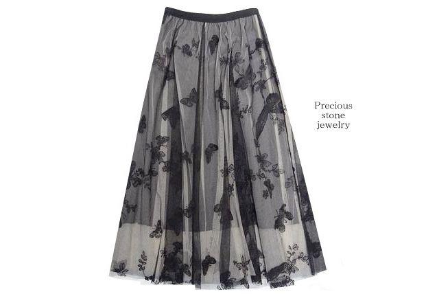 ●残りわずか〜秋色×パピヨン刺繍スカート
