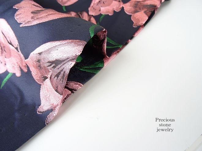 ○高品質×感謝プライスPINKチューリップ煌めきジャガードワンピース