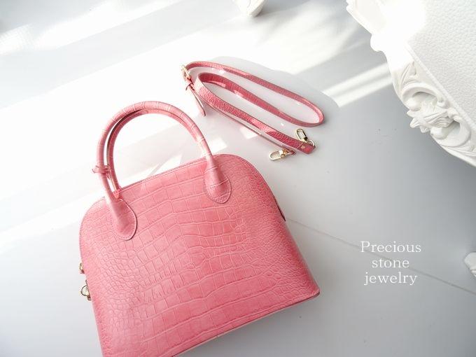 ○2月23日×21時より〜最終再販スタート)クロコ調×シーズンレスバッグ(ピンク)