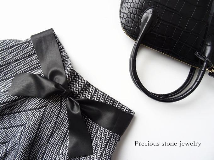 ○2月23日×21時より〜最終再販スタート)クロコ調×シーズンレスバッグ(ブラック)