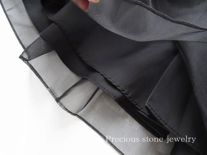 ○1月31日×21時より再販スタート)フリルズライン切り替えオーガンジータフタスカート