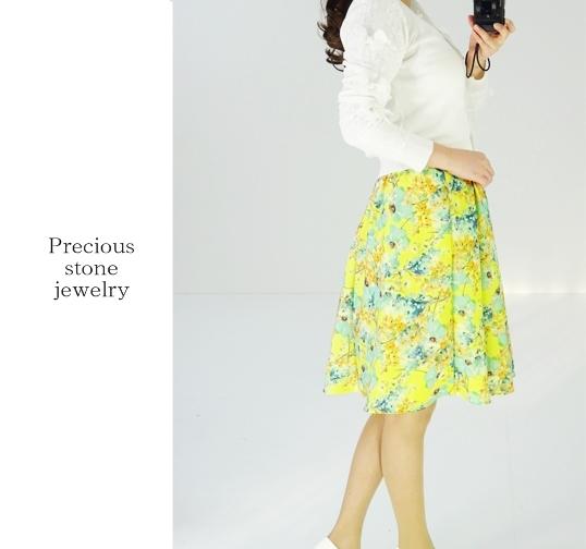 ○フレッシュパステルフラワースカート(全3カラー展開)