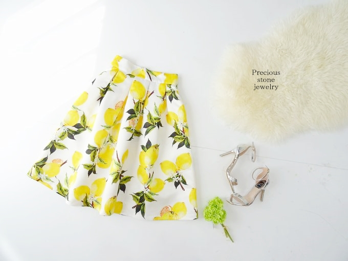 ●残り2点ほど〜最終再販〜期間限定特別プライス×レモンプリントスカート