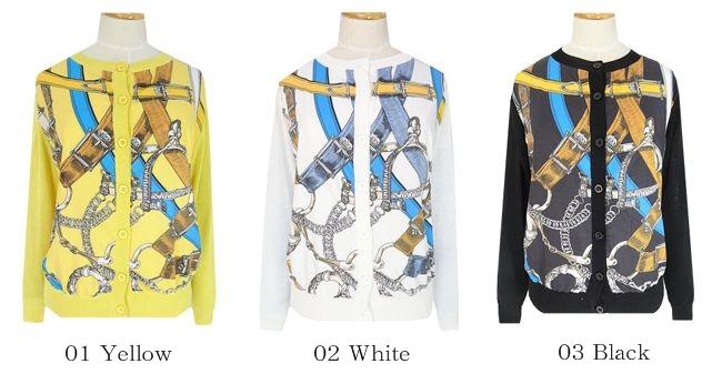 ○完売ホワイト×再入荷)高品質スカーフデザインカーディガン(3カラー展開)