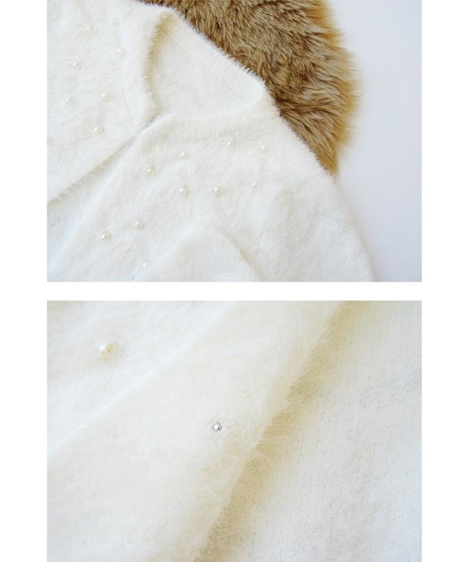 ○完売ホワイト再入荷〜高品質×感謝プライス〜ふわふわ粉雪カーディガン(2カラー)