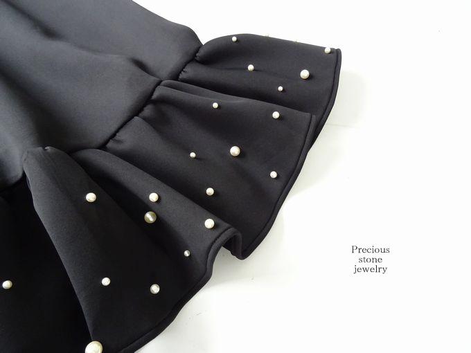 ●再入荷×裾フリルパールスカート(2カラー)