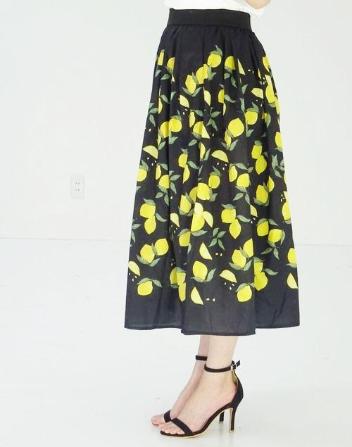 ●残りわずか〜ブラックレモンスカート