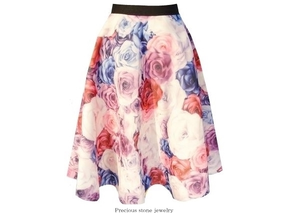 ●残り1点となっております〜ロマンティックローズダイバースカート(高品質)