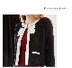 ●150着完売〜高品質×フロントリボンデザインクラシカルニットジャケット(2カラー)