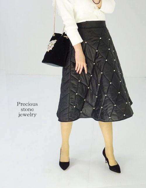 ●残り1点となりました〜感謝プライス〜高品質×マトラッセプティパールキルティングスカート