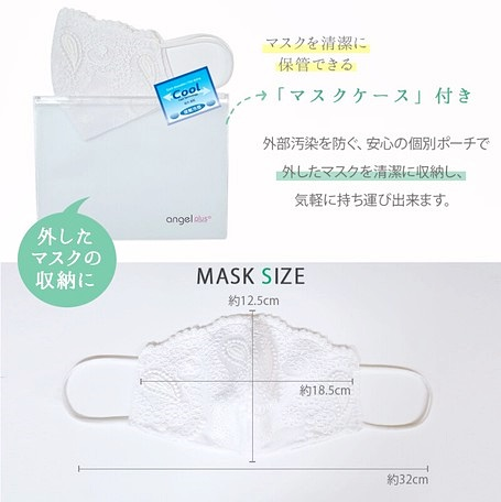 ●残り1点×500枚突破〜残りわずかローズデザイン【最上級】冷感&ラグジュアリーレースマスク