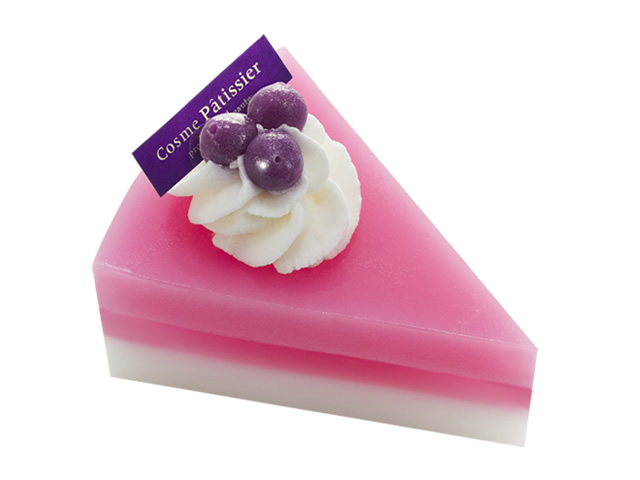 ケーキ石鹸(ブルーベリー)