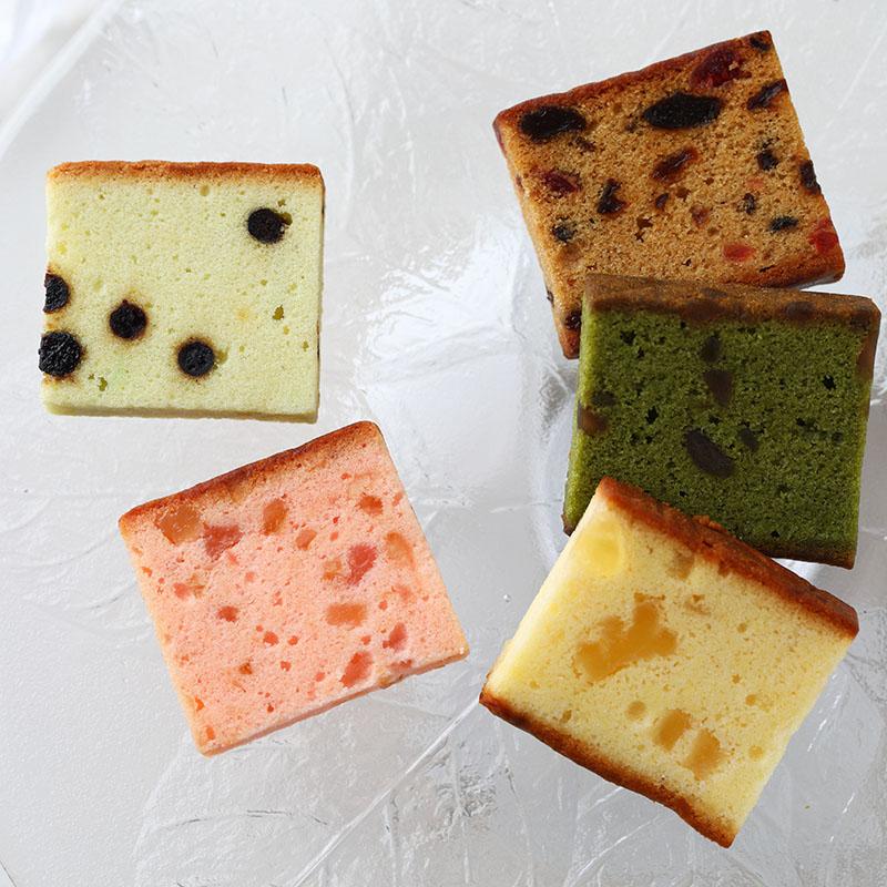 夏のフルーツケーキ5種詰め合わせ(15個入)