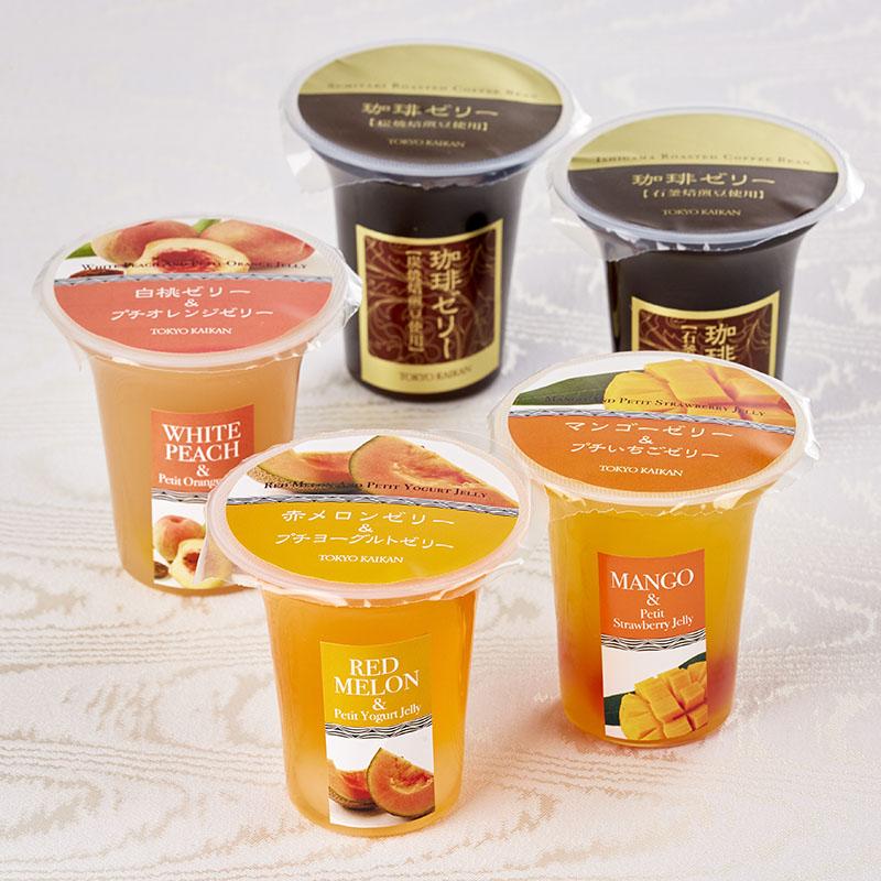 夏のフルーツケーキ&ゼリーセット<br>(夏のフルーツケーキ5種15個入・ゼリー5個)