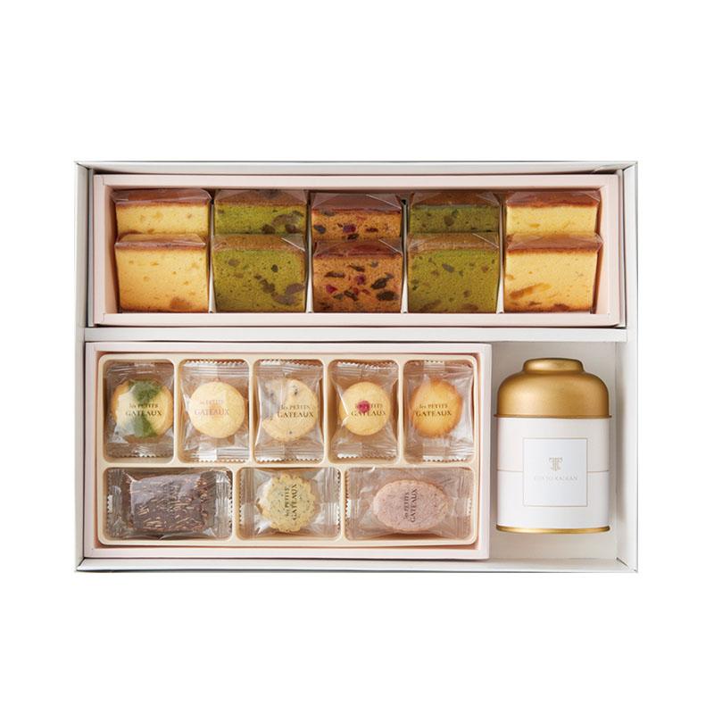 紅茶詰め合わせセット(オリジナル特選紅茶・フルーツケーキ3種10個入り・プティガトーTK-15)