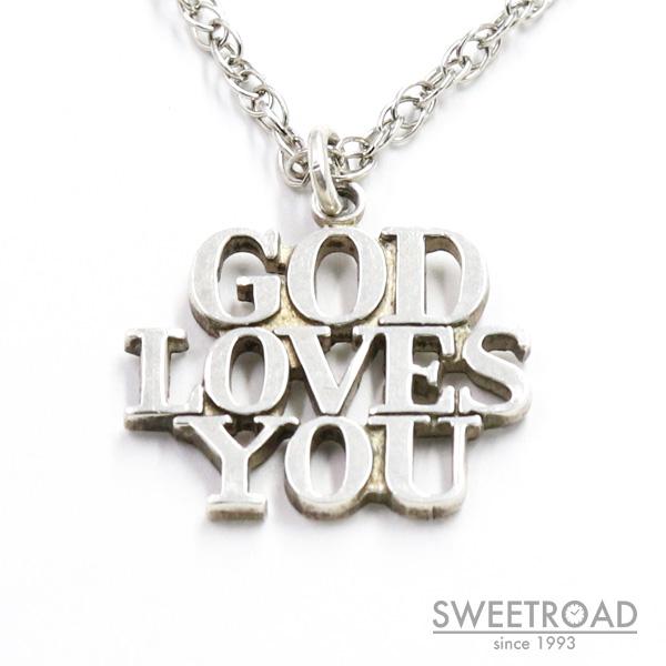 【TIFFANY&Co./ティファニー】GOD LOVES YOU/ウォルターボビン・デザイン/925シルバー/ネックレス/ジュエリー/アクセサリー/w-24489