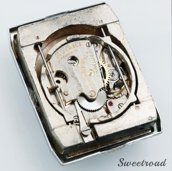 【PIERCE/ピアース】特殊構造レクタンギュラーケース/自社製 自動巻キャリバー/1940年代/w-23518
