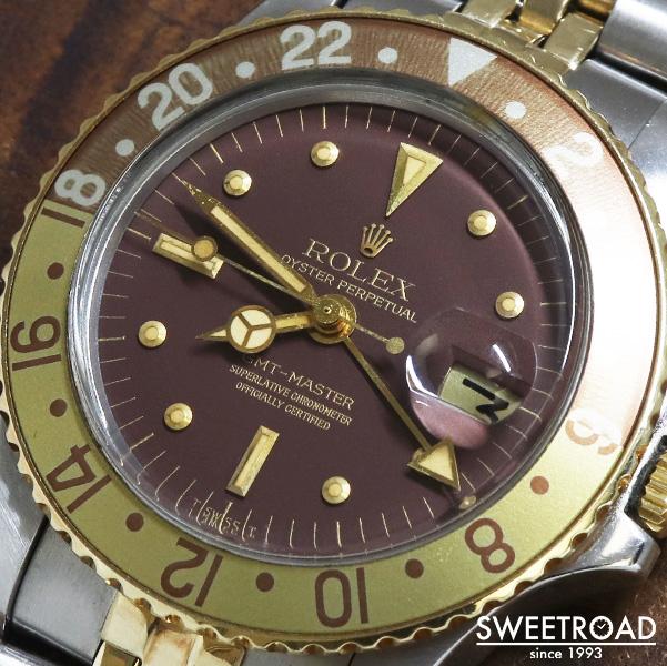 【ROLEX/ロレックス】GMT-MASTER/GMTマスター/Ref.1675/茶ツボ/フジツボ/メキシコロレックス純正ベルトCal.1570/自動巻/1973年製/w-24093