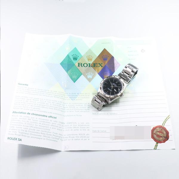 【ROLEX/ロレックス】Ref.16264/Y番/ギャランティ付き/デイトジャスト・サンダーバード/オリジナルブラックダイヤル/純正ハードブレス/自動巻/2002年製/w-24382