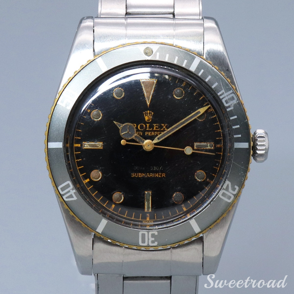 【ROLEX】SUBMARINER/Ref.5508MM/Gilt Dial/Cal.1530/Automatic/1958年製/w-20325