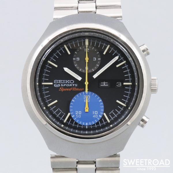 【SEIKO/セイコー】Ref.6138-0020/5スポーツ・スピードタイマー /オリジナルブラックダイヤル/純正SSブレス/Cal.6138B/自動巻クロノグラフ/1971年製/w-24053