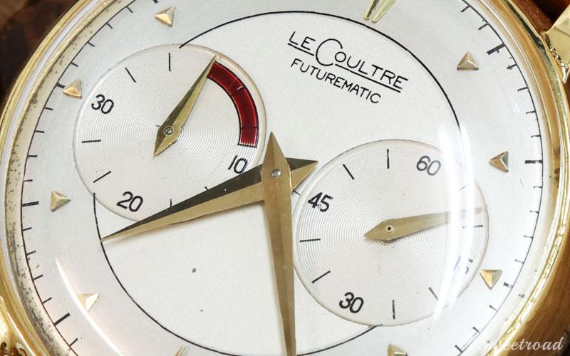 【LECOULTRE/ルクルト】FUTUREMATIC/フューチャーマチック/10KGF/バックワインド/インジケーター/Cal.497/自動巻/1950年代/w-21516
