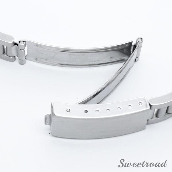 新品【3連ハードブレス】直菅/ストレート/ステンレスブレス/ステンレスベルト/腕時計用SSベルト/接続幅:18mm・19mm・20mm/ss-2