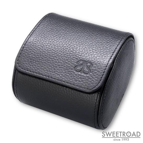 新品【BANKS & SLOANE/バンクス&スローン】The Campbell /キャンベル/腕時計用収納ケース/1本入りウォッチケース/ブラック/レザー・スエード/オーストラリア製/bswc-11