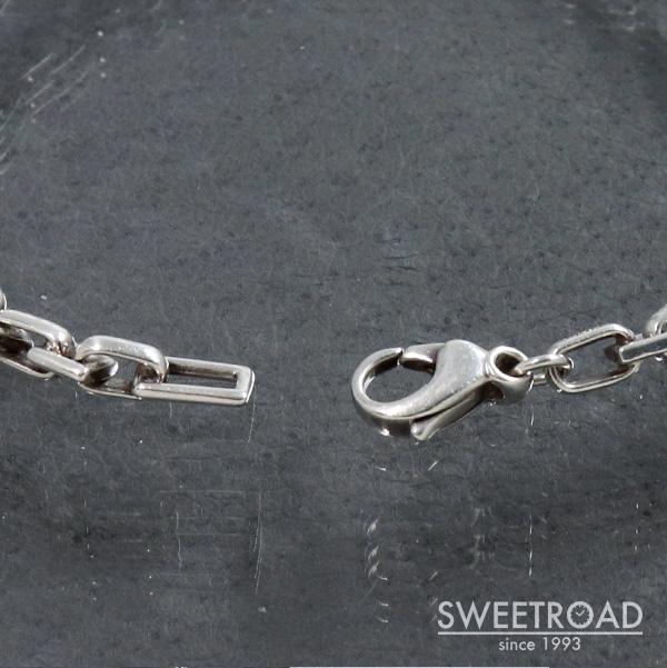 【TIFFANY&Co./ティファニー】スクエアチェーン・ブレスレット/925シルバー・銀無垢/w-24802
