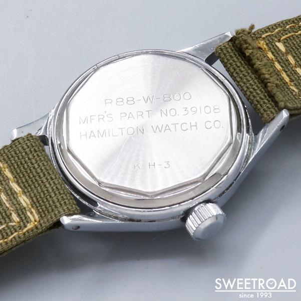 【HAMILTON/ハミルトン】米海軍/R88-W-800/第二次世界大戦/オリジナルダイヤル/スモールセコンド/ミリタリーウォッチ/Cal.987A/手巻き/1940年代/w-23495SW