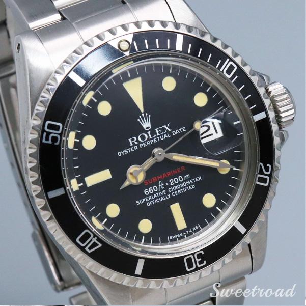 【ROLEX/ロレックス】【Submariner/サブマリーナ】【Ref.1680】【赤サブ/オリジナルブラックダイヤル】【Cal.1570/自動巻】1973年製 w-19202