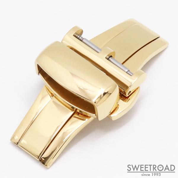 新品【腕時計用Dバックル】PBF D-BUCKLE/CASSIS・カシス/観音開き・両開き/プッシュ式/ミラーゴールド・鏡面仕様/接続幅16mm/pdb-2