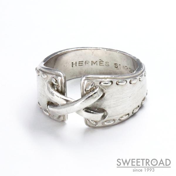 【HERMES/エルメス】MEXICO RING/メキシコリング/#51/日本サイズ11号/925シルバー・銀無垢/指輪/ジュエリー/アクセサリー/w-24580