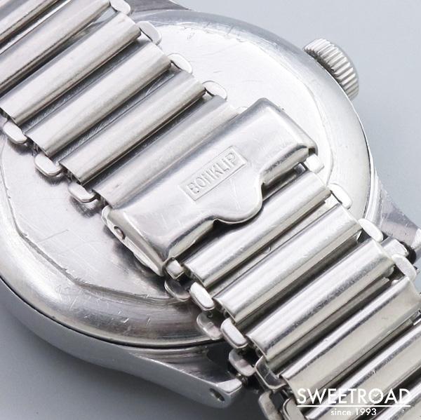 【MINERVA/ミネルバ】オリジナルブラックミラーダイヤル/アラビアインデックス/スモールセコンド/ボンクリップ製バンブーブレス/手巻き/1940年代/w-24322