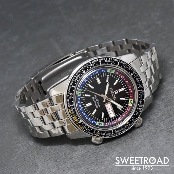 【RICOH/リコー】World Timer/ワールドタイマー/24時間表示インナーベゼル/回転ベゼル/自動巻/1970年代/w-21342