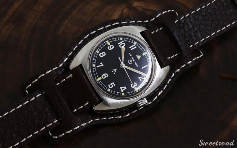 新品【レザーベルト/革ベルト】台座付き3ピース/本革製/時計ベルト/腕時計ベルト/腕時計バンド/接続幅:18mm/3p-1