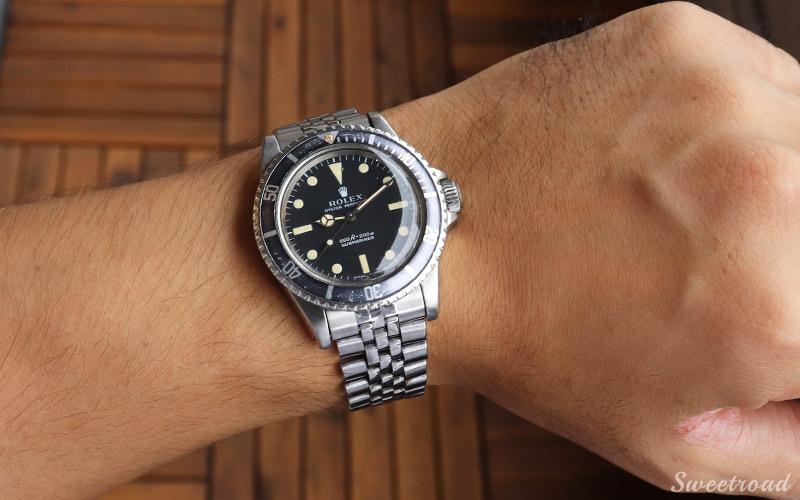 【ROLEX/ロレックス】【Submariner/サブマリーナ】【Ref.5513】【オリジナルブラックダイヤル/フチなしインデックス/JBチャンピオンブレス】【Cal.1520/自動巻】1972年製 w-20299