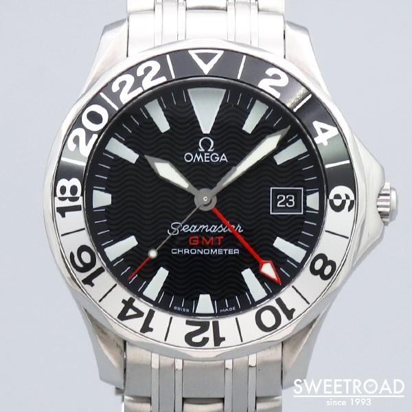 【OMEGA/オメガ】シーマスター300・GMT/50周年記念モデル/Ref.2534.50/BOX・ギャラ・タグ付き/純正SSブレス/自動巻クロノメーター/1999年製/w-24028