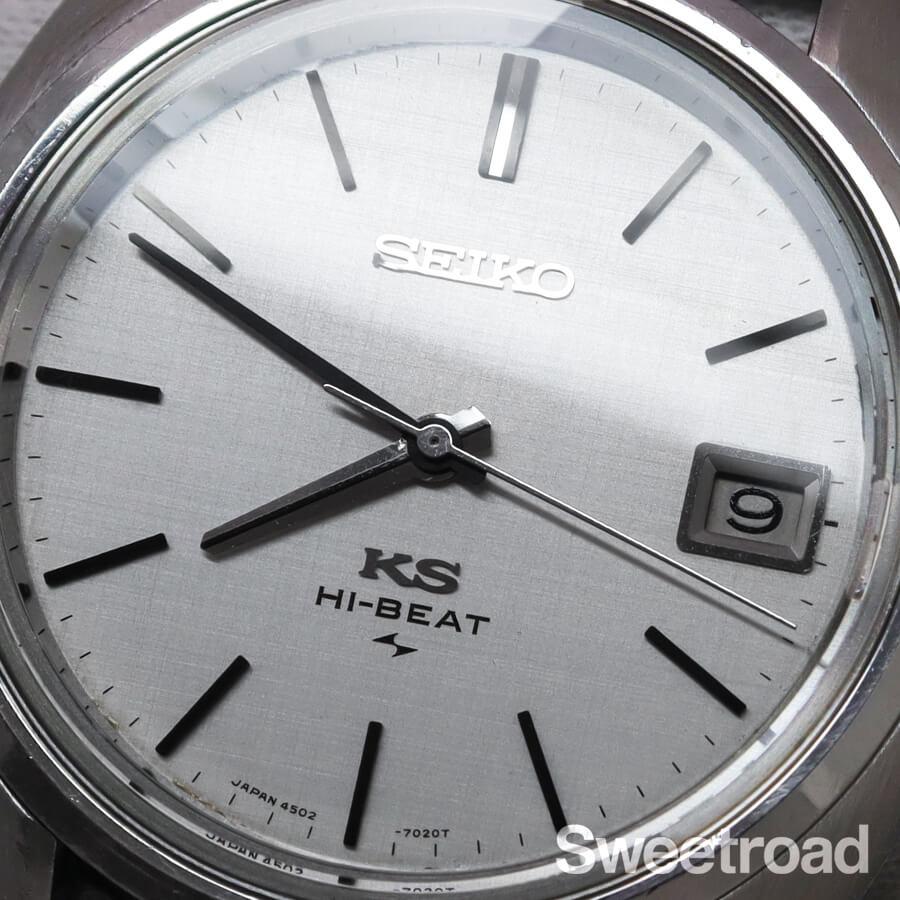 【KING SEIKO/キングセイコー】45KS/Ref.4502-7010/オリジナルシルバーダイヤル/トノーケース/ハイビート手巻き/1970年製/w-22031