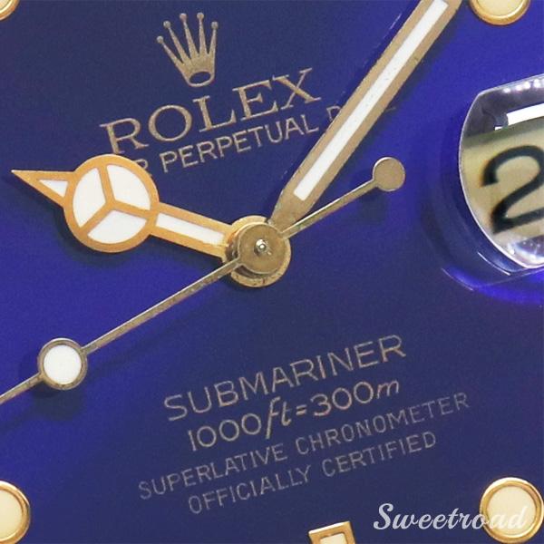【ROLEX/ロレックス】Submariner Date/サブマリーナデイト/青サブ/Ref.16613/E番/パープルダイヤル/YGコンビ/純正BOX・冊子付き/Cal.3135/1990年製/w-21299