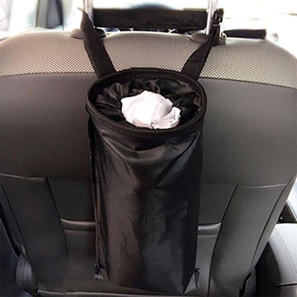 車内 ゴミ箱 車用 ダストボックス 後部座席用 車載アクセサリー 車内収納 清潔 カー用品 ゴミポケット ゴミ袋 ゴム出し入れ口 便利