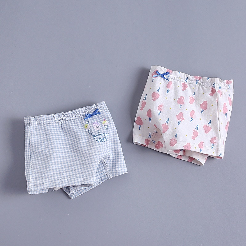 キッズ ショーツ 女の子 2枚組 アイスクリームシリーズ 小学生 ジュニア 子ども セット 下着 パンツ オーバーパンツ インナー 女の子服 インナーパンツ 子供ファッション かわいい