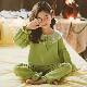 パジャマ キッズ 綿100% 女の子 レディース かわいい裾フリル ジュニア おしゃれ 冬 長袖 部屋着 長袖パジャマ 子供 薄手 ルームウェア プリンセス 妖精 レース お姫様 ふわふわ もこもこ ガールズ ナイトウェア 可愛い 寝巻き 子供服 ピンク グリーン